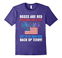 Put It In Reverse Back Up Terry Fireworks 4th Of July Shirts Purple