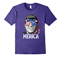 Kennedy Merica 4th Of July President Jfk Gifts Shirts Purple