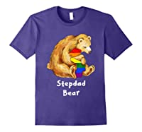 Stepdad Bear Proud Dad Lgbt Gay Pride Lgbt Dad Gifts Shirts Purple