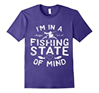 Michigan I'm In A Fishing State Of Mind Vacation Shirts Purple