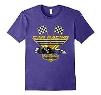 Car Racing Fanatic 500 Miles T Shirt Golden Edition Purple
