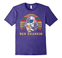 Ben Drankin 4th July Independence Day Party Shirts Purple