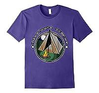 Adventure Seeker T Shirt Camping Outdoor Travel Purple
