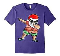 Dabbing Santa Christmas In July Hawaiian Shirt Gift Purple