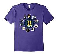 Project Gemini Missions Patch Badge Nasa Shirts Purple