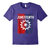 Junenth Black American African History Freedom Day Shirts Purple