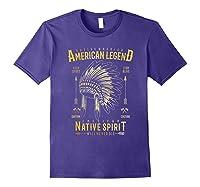 Native American Warrior, Indian Native Spirit Shirts Purple