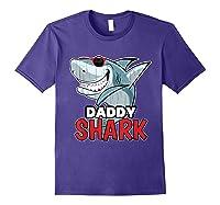 Dabbing Daddy Shark Fathers Day Gift Matching Shirts Purple