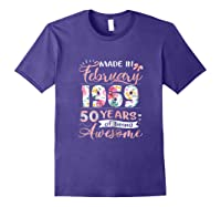 Made In February 1969 T Shirt 50 Years Of Being Awesome Purple