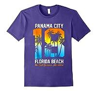 Pa City Beach 2018 Florida T Shirt Beach Lovers Gift Purple