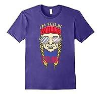 I'm Feeling Willie Friggin Drunk Flag July 4th Funny Shirts Purple