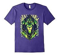 Lion King Evil Scar Graphic Shirts Purple