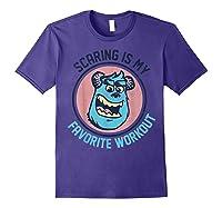 Pixar Monsters University Sulley Face Shirts Purple