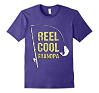 Reel Cool Dad Funny Fishing Fathers Day Gift Shirts Purple