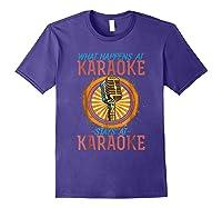 Karaoke Music Gifts Sing Music Bar Singer Vegas Style Mic Shirts Purple