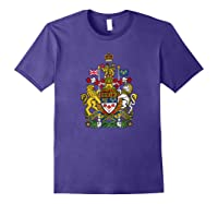 Canada Coat Of Arms Flag Souvenir Ottawa Shirts Purple