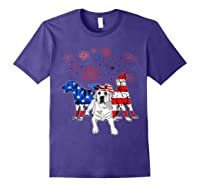 Labrador 4th Of July America Flag Gifts Shirts Purple
