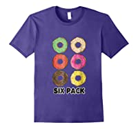 Funny Donut Six Pack Muscle T Shirt Purple