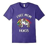 Free Mom Hugs Rainbow Gray Pride Lgbt Funny Tank Top Shirts Purple