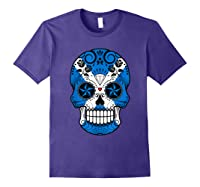Scottish Flag Sugar Skull Shirts Purple