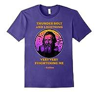 Thunderbolt And Lightning Galileo, Science Meme Shirts Purple