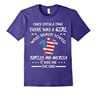 Once Upon A Time Turtle America 4th Of July T Shirt Gifts Purple