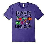Plants Are Best Medicine, Vegan, Vegetarian Shirts Purple
