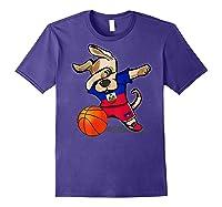 Dog Dabbing Haiti Basketball Haitian Sport Team Shirts Purple