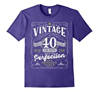 Vintage 40th Birthday Shirt, 1979, Aged To Perfection Purple