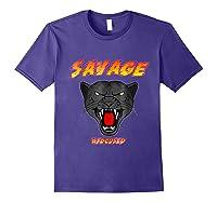 Savage T Shirt Wild Black Panther Focused Purple