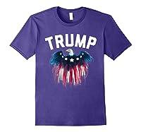 Trump American Flag Eagle Shirts Purple