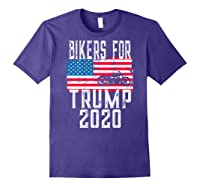 (print On Back) Bikers For Trump T-shirt Motorcycle Rally Purple
