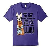 Happy Sad Tally Disturbed Drama Big Fat Shirts Purple