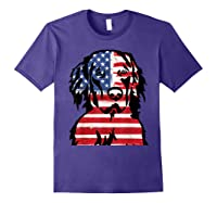 Funny Hovawart American Flag 4th Of July Shirts Purple