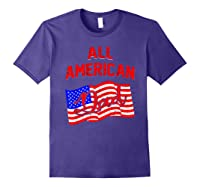 All American Dad 4th Of July Independence Day Shirts Purple