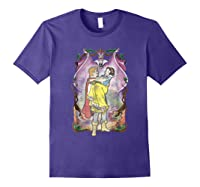 Snow Distressed Poster Style Graphic Shirts Purple