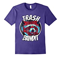 Raccoon Trash Bandit Funny Raccoon Trash Panda T Shirts Purple