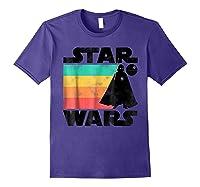 S Darth Vader Retro Stripes Baby Death Star Shirts Purple