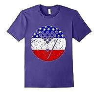 American Flag Billiards Vintage Retro Pool Shirts Purple