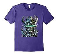 Flat Earth Monster Shirts Purple