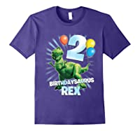 Disney Pixar Toy Story Birthdaysaurus Rex 2nd Birthday T-shirt Purple