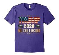 Trump 2020 No Collusion Shirts Purple