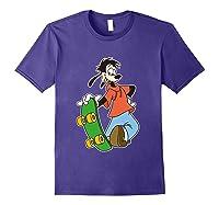 Disney Maxie Skateboard T Shirt Purple