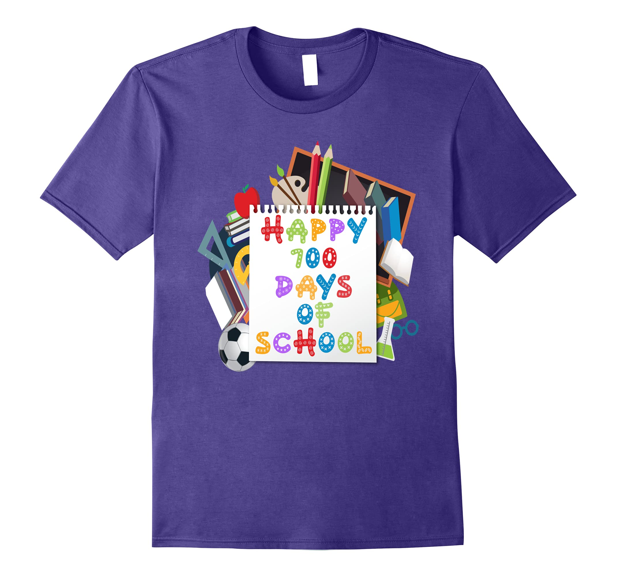 Happy 100 Days Of School Shirt- Funny 100th Day Of School-RT