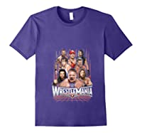 Wrestlemania Group Wwe T-shirt Purple