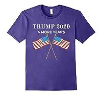 Trump 2020 4 More Years President Shirts Purple