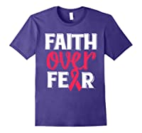 Faith Over R Breast Cancer Awareness Gift Shirts Purple