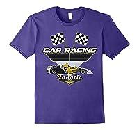 Car Racing Fanatic 500 Miles T Shirt Car Lover Gift Purple
