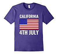 California Independence Day 4th July American Us Flag Gift Shirts Purple