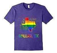 Dallas Texas Lgbt Pride Shirt Purple